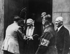 Hitler at Nietzsche museum with Nietzsche's daughter, Elizabeth Forster Nietzsche