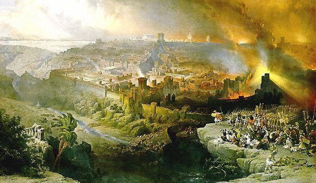 The Siege and Destruction of Jerusalem by David Roberts (1850)